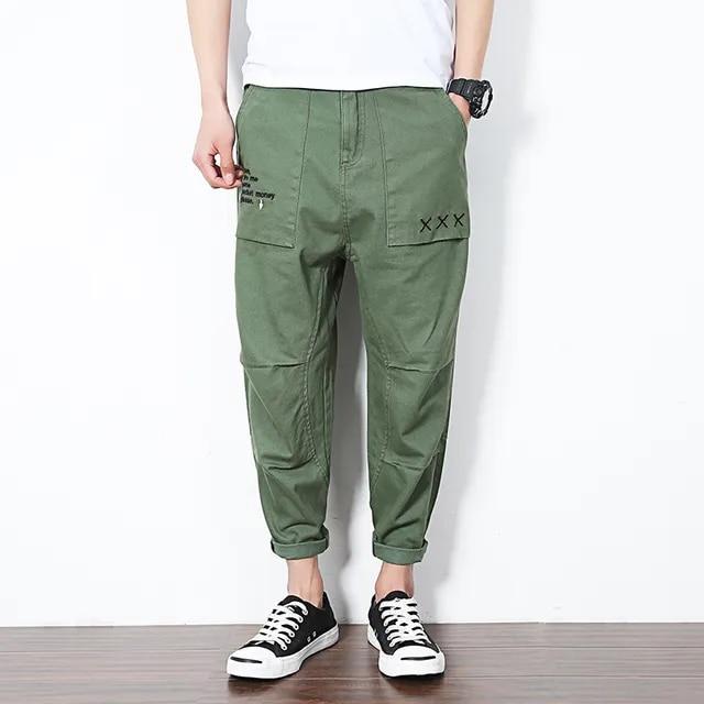 Autumn Casual Harem Pants Mens New Hip Hop Sweatpants Joggers Trousers Male Fashion Ankle Length Pants Streetwear