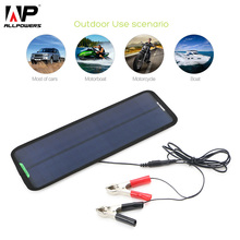 18V 7.5W Car Battery Solar Charger Solar Powered Car Battery Maintainer for Boat Car Vehicle Motorbike Yacht 12V Battery.