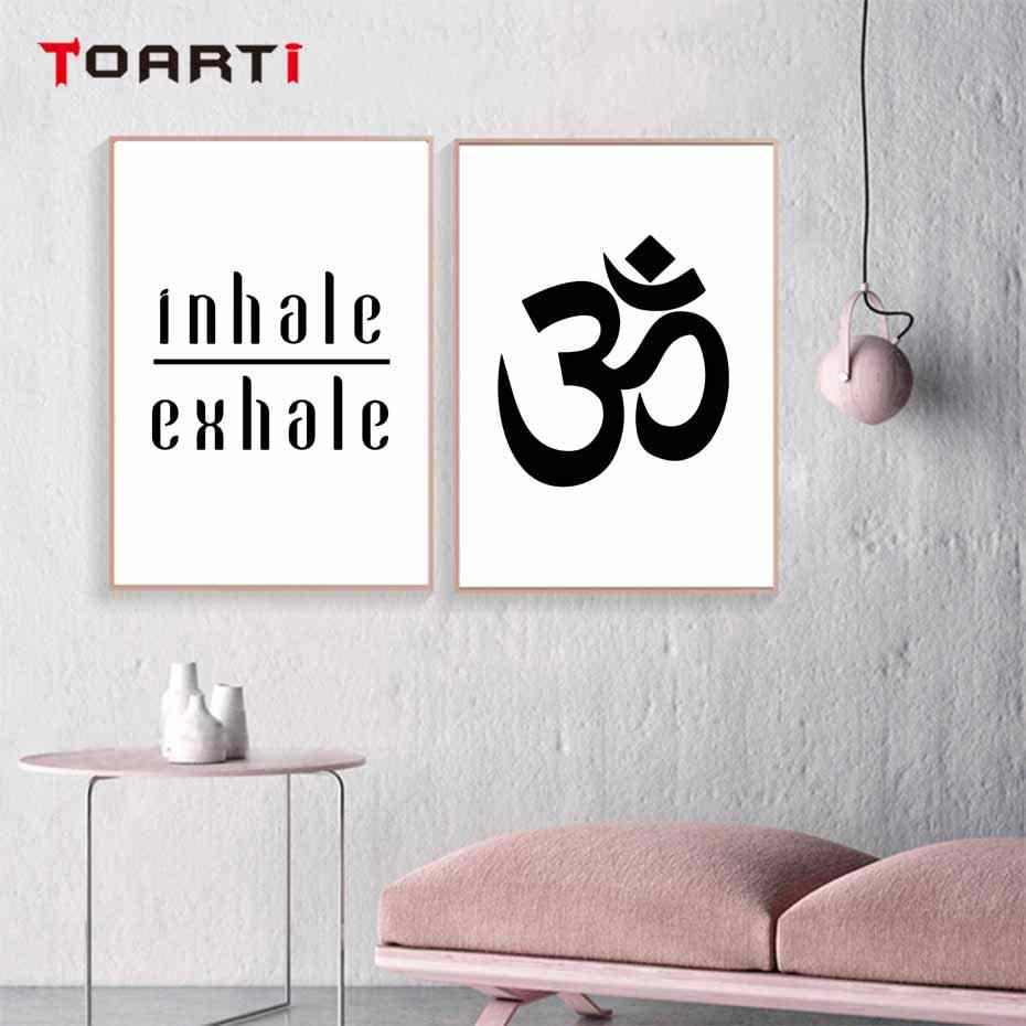 Inhale Exhale Yoga Poster And Prints Meditation Modern Canvas Painting On The Wall Art Nordic Modular Wall Picture Bedroom Decor