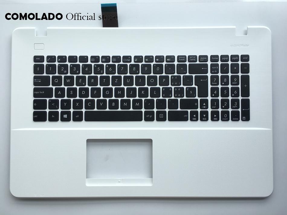 SW Swiss keyboard For ASUS A751 X751LD k750j K751L X751 R752 R752L Top Cover Upper Case Palmrest keyboard SW Layout