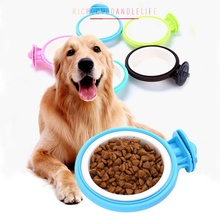 Prevent Overturning Hanging Bowl Food Container Pet Dog Cat Can Hang Stationary Dogs Puppy Kitten Cage Supplies