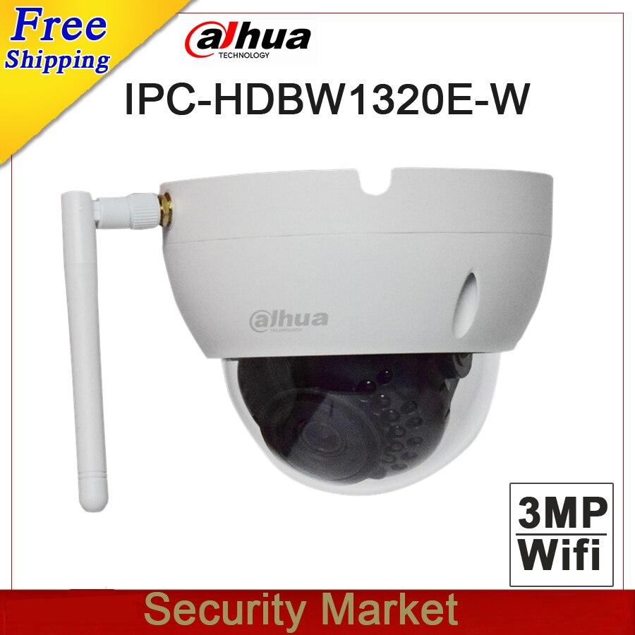 Original dahua english version IPC HDBW1320E W 3MP IR Mini Dome Network Camera CCTV IP wifi