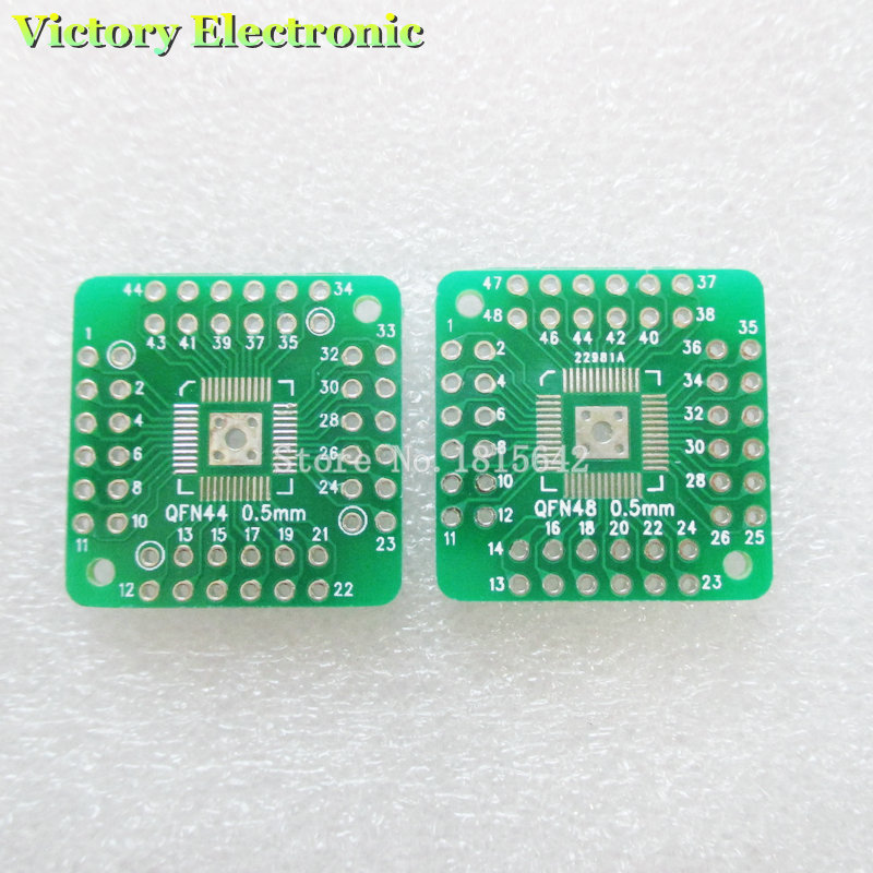 10PCS/Lot HTQFP QFN48 To DIP48 QFN44 QFP48 QFP44 PQFP LQFP To DIP PCB SMD Adapter Plate Pitch PCB Board