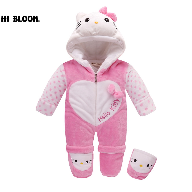 Пасха прекрасный подарок ребенок животных мутные Комбинезоны для женщин для новорожденных комбинезон теплый костюм мягкие зимние фланеле...