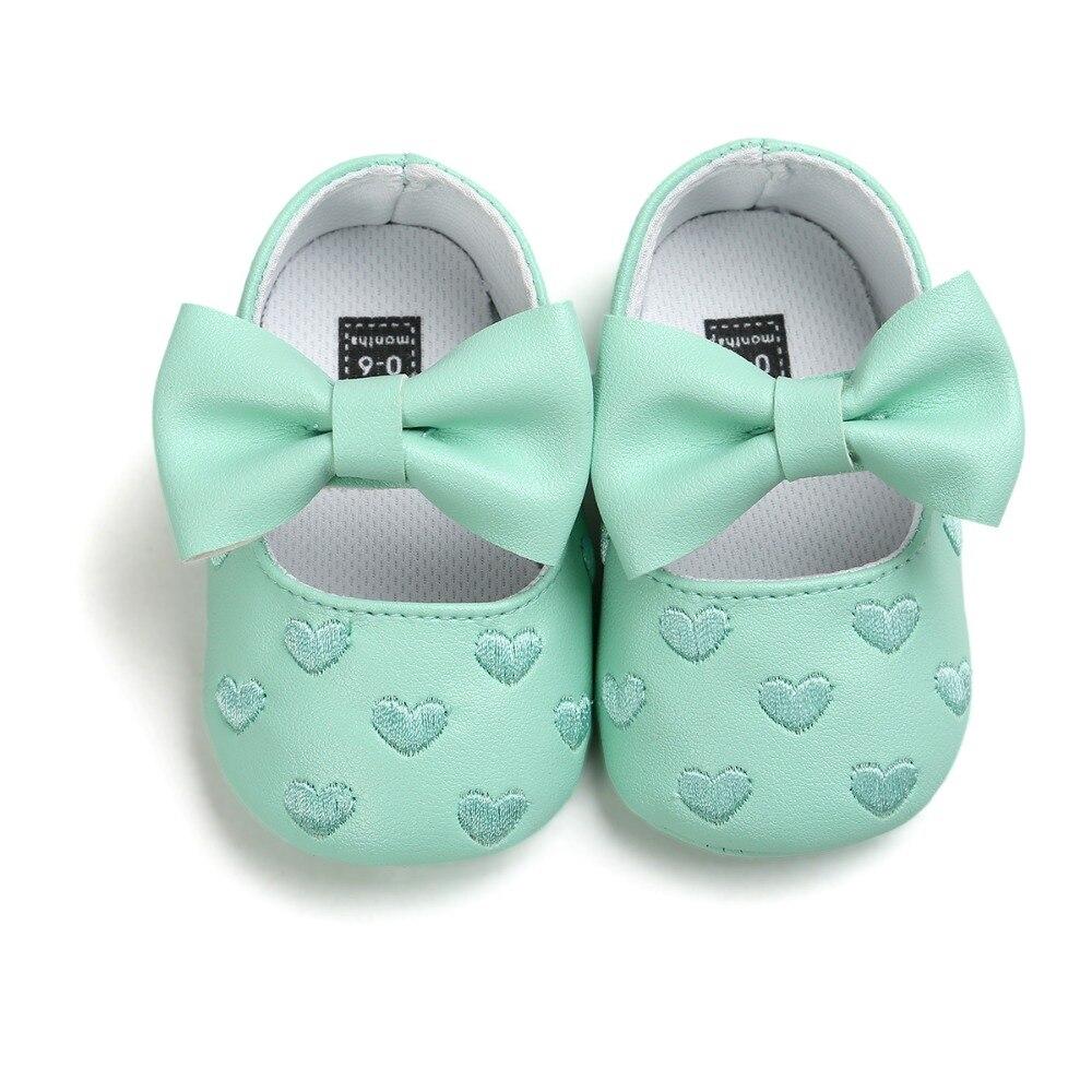 2017 lente pasgeboren baby meisje prinses schoenen mocassins 0 ~ 18 maanden wieg schoenen CX50C