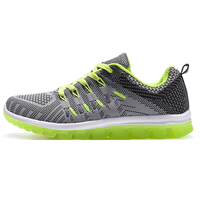 Men Sports Shoes Walking Running Sneakers Gray Orange Athletic Trainers Spring Autumn Sneakers Brand Men Breathable