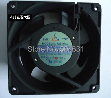 Free Shipping SANJUN Axial Flow Fan SJ1238HA2 Ball Bearing AC220V Plastic Impeller Made In Taiwan 220v ac 280x280x80mm axial radiator fan 1341cfm 2400rpm ball bearing high speed