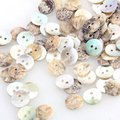 100 Mother of Pearl MOP Round Shell Sewing Buttons 8mm shoes accessories HOT