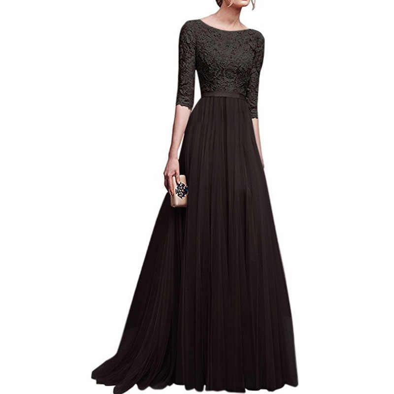 ... Women Dress Elegant Lady Dresses Gown Formal Dress Women Office Long  Summer Boho Dresses European Amazon ... 8f6a7d593d