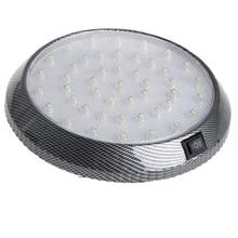 1 Uds DC12V 46 LED luz Interior del coche techo lectura en el maletero lámpara de luz de coche estilo de noche ABS plástico