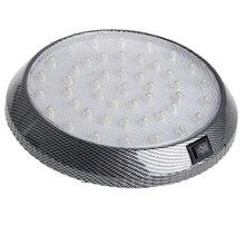1 sztuk DC12V 46 LED pojazdu samochodów wewnętrzna lampka Dome dach sufit czytanie Trunk światła samochodowe lampy Car Styling noc światło ABS z tworzywa sztucznego