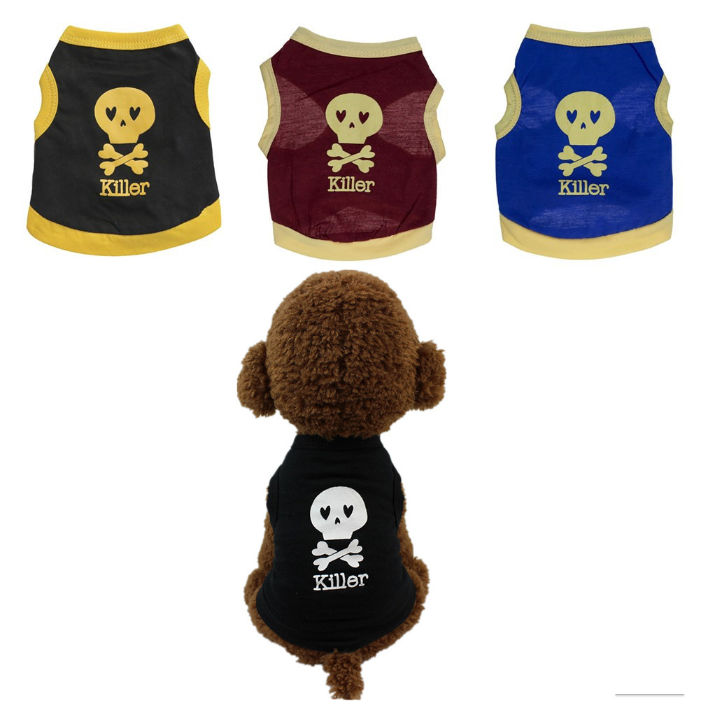 Dog Clothes For Small Dogs Pet Products Dogs Clothing Summer Dog Clothing Cotton T shirt Puppy Costume For Small Dog