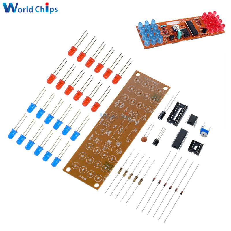 CD4017 practice Double color flashing lights kit Electronic production NE555