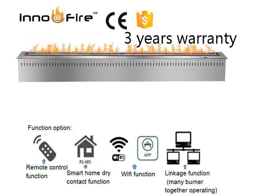 72 Inch Black Or Silver Intelligent Wifi Remote Control Bio Ethanol Brander