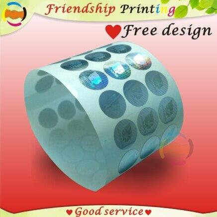 Голографические наклейки на заказ, печать этикеток, лазерная этикетка с индивидуальным логотипом, антифальшивые защитные 3D голографически...