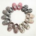 Sapatos de Bebê venda quente cobra grão Couro Genuíno Mocassins Bebê fundo Macio Criança Primeiros Walkers Bebe recém-nascidos