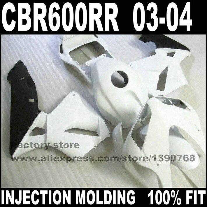 ABS комплект пластиковых обтекателей для HONDA CBR 600 RR 03 04 CBR 600 CBR600 RR 2003 2004 белый черный обтекатель для мотоцикла комплект кузов часть