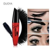 DUOYA 4D Silk Fiber Eyelash Mascara Volume Waterproof Lengthening Mascaras Black Natural Lash For 3D Eyes Cosmetic Brand Makeup
