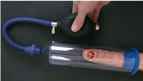 Penis pumps in use