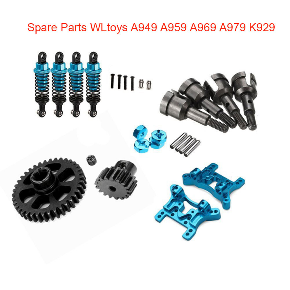 WLtoys Upgrade Common Parts Kit Set Shock Absorber Board, Motor Gear for 1/18 WLtoys A949 A959 A969 A979 K929 Spare Parts fid closed damping ball group rod shock absorber cap for lt 5t 1 set