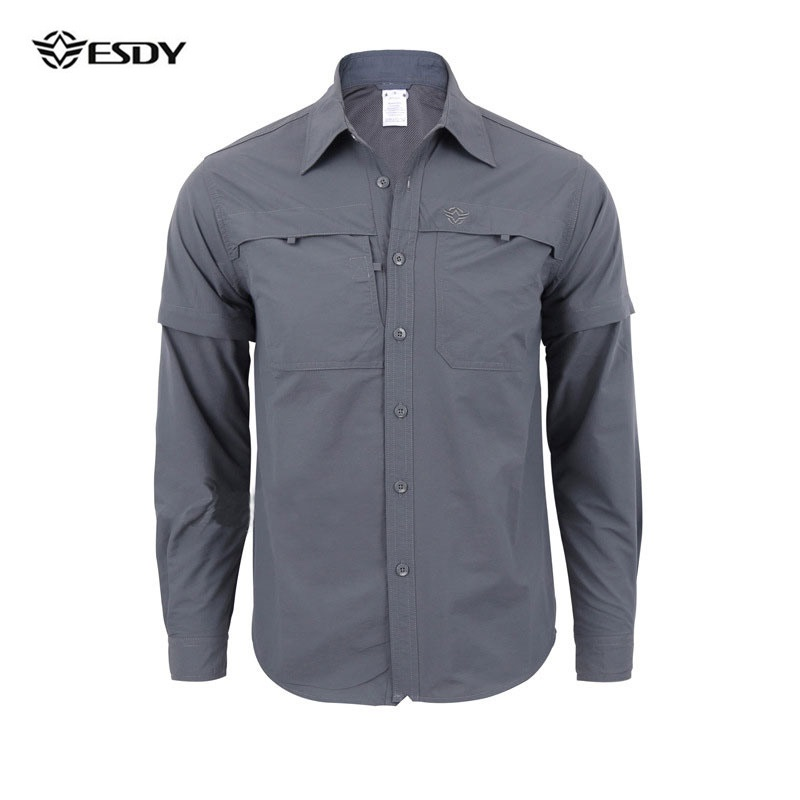 Hiking Shirt Men Quick Dry Outdoor Shirt Long Sleeve Men Hunting Fishing Shirt Breathable Anti-UV Shirt Men Outdoor Clothing men outdoor long sleeve quick drying shirt