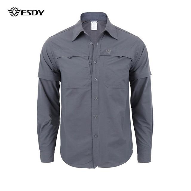 Overhemd Mannen.Wandelen Shirt Mannen Sneldrogend Outdoor Overhemd Lange Mouw Mannen