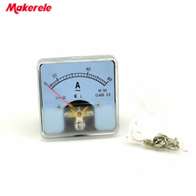 цена AC DH-60(60)  Analog Ammeter Panel Current Amper Meter Pointer Diagnostic-tool Amperimetro Ampermeter Tester New China онлайн в 2017 году