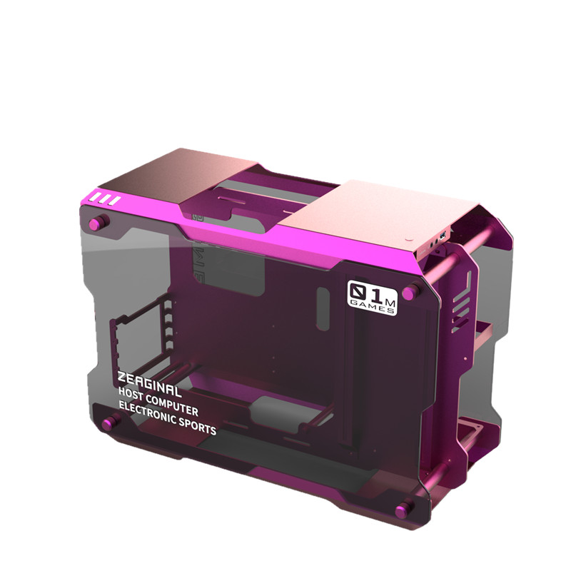 ZEAGINAL MATX ITX PC Case Gaming Gamer Grape Pot For Water Cooling DIY Loop Full Aluminum ZC-01M(China)