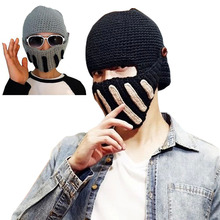New Winter Beanies Solid Color Hat Unisex Warm Soft Beanie Knitted Cap Hats Horseman Hat Masks Cap For Men and Women 8 J