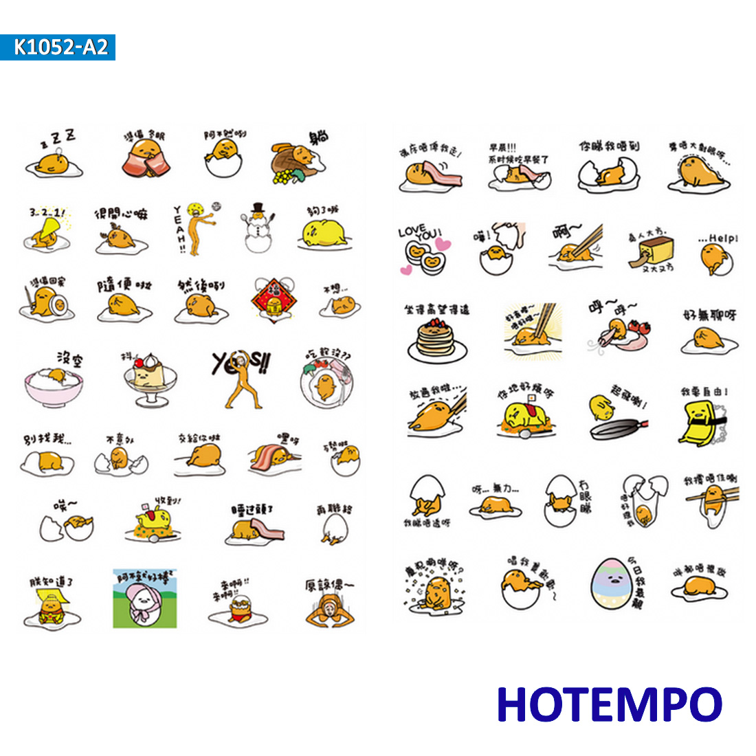 Gudetama Sanrio Stickers For Girl Children Kids Gift DIY Letter Diary Scrapbooking Stationery Pegatinas Stickers