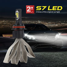 Super Bright Car S7 Auto Headlamp Fog Light Headlight Bulbs12v 24V 72w COB Led H1 H4 H7 H27 H3 HB3 HB4 H11 H13 9004 9007 6000K