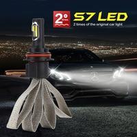 Super Bright Car S7 Auto Headlamp Fog Light Headlight Bulbs12v 24V 72w COB LED H1 H4 H7 H27 H3 HB3 HB4 H11 H13 9004 9007 6000K