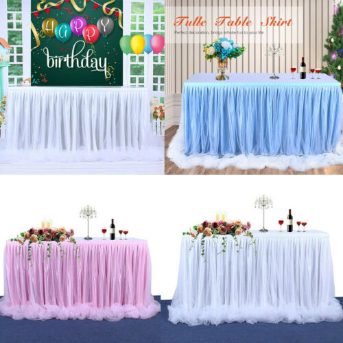 Table Skirt Tulle For Weddings Celebrations Parties Events White Table Cloth