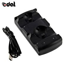 цена на 2 in 1 Daul USB Charging Station Charger Stand Dock for PS3 Move Controller Gamepads