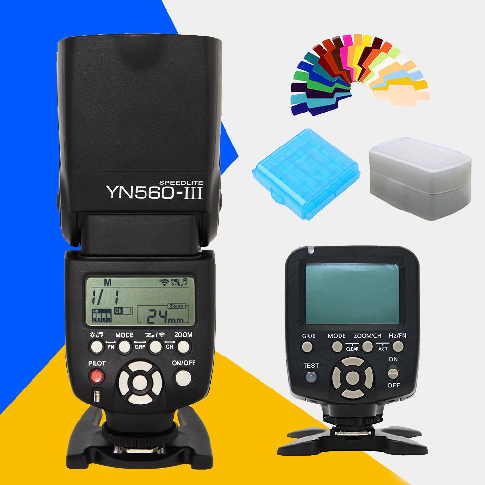 Prix pour YONGNUO YN560III YN-560III YN560 III YN560-III Speedlite Sans Fil Flash + YN-560TX LCD Contrôleur de Flash YN560 TX pour Nikon Canon