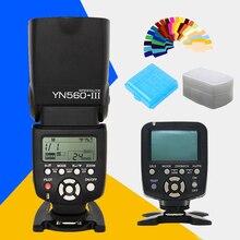 Yongnuo yn560 yn-560iii yn560iii wireless flash speedlite iii yn560-iii + yn560 yn-560tx flash sterownik lcd tx dla nikon canon