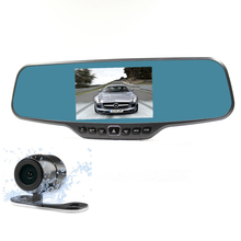 Best Dual lens Car dvr mirror Rearview DVR Mirror 4.3″ TFT Allwinner A20 Chip Full HD 1080P 170 Degree DVR mirror camera