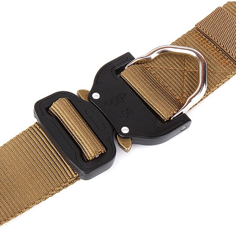 Mens Nylon Belt SWAT Combat Heavy Duty Knock Off Tactical Belt US Soldier Military Equipment Army Belts Sturdy Hook Waistband