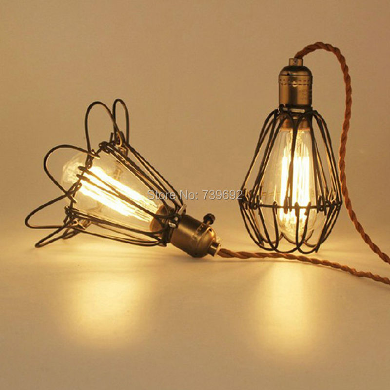 American countryside vintage pendant light antique single - Lampara industrial vintage ...