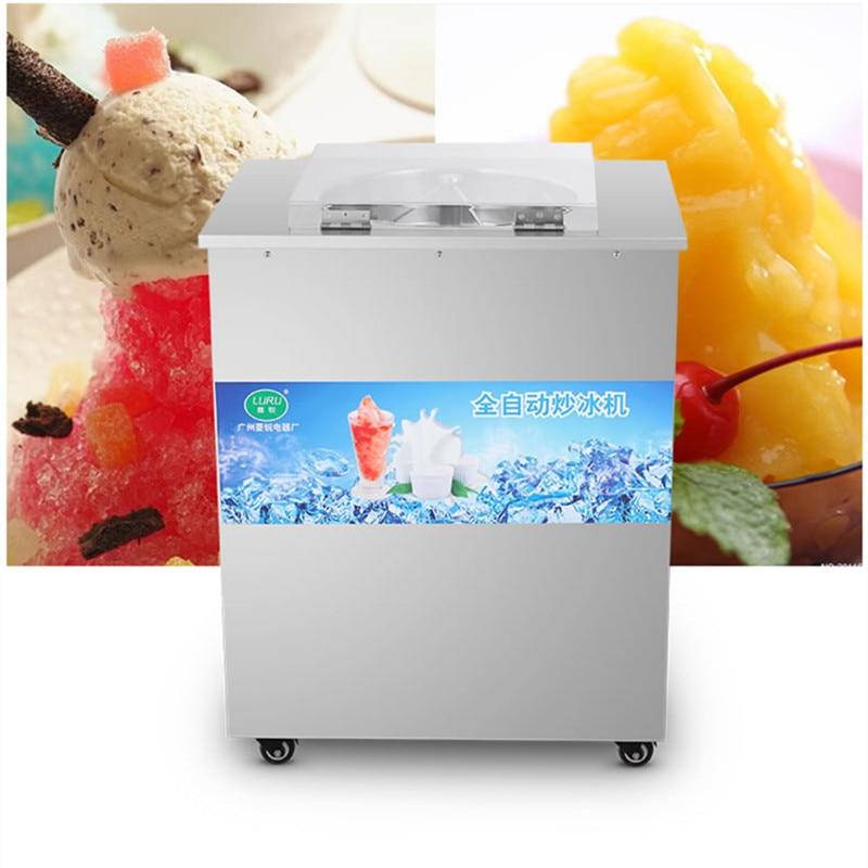2016  single pan full automatic  fried ice pan machine,fried ice cream machine,pan fried ice cream machine