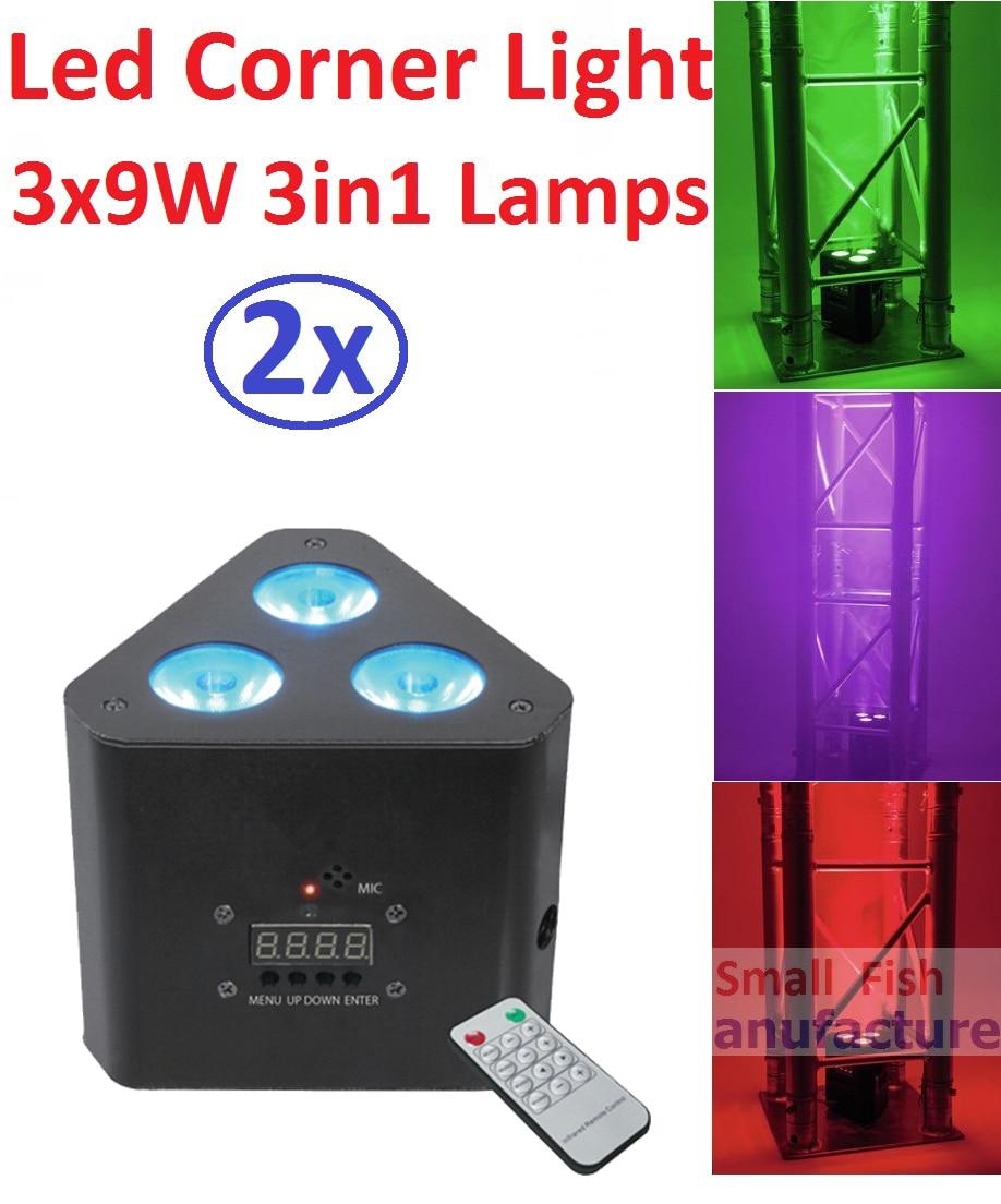 2016 New Mini 30W Led Stage Effect Light 3x9W 3in1 RGB Led Corner Light with DMX512 IR Remote Control Par Led DJ Disco Equipment цена