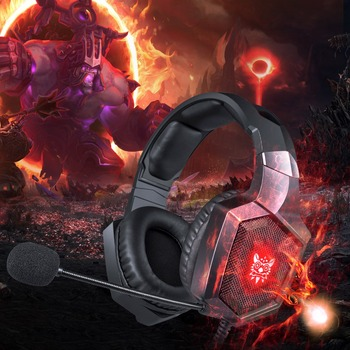 ONIKUMA K8 Headset casque PS4 Gaming Headphones PC Stereo with Microphone LED Lights for Xbox One /Laptop Tablet Gamer