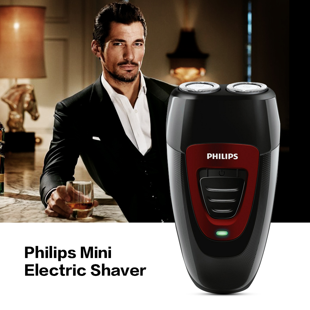 Philips PQ182 Rechargeable Electric Shaver Twin Blade Men's Razor with Ni-MH Battery 100-220V Men's Razor Retail Package philips electric shaver s330 rotary rechargeable and body wash design for men s flexible veneer system with retail package