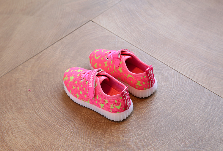 17 New Kids LED Sneakers Breathable Children Sports shoes Baby boys Luminous shoes for girls shoe with light Size 21-30 13