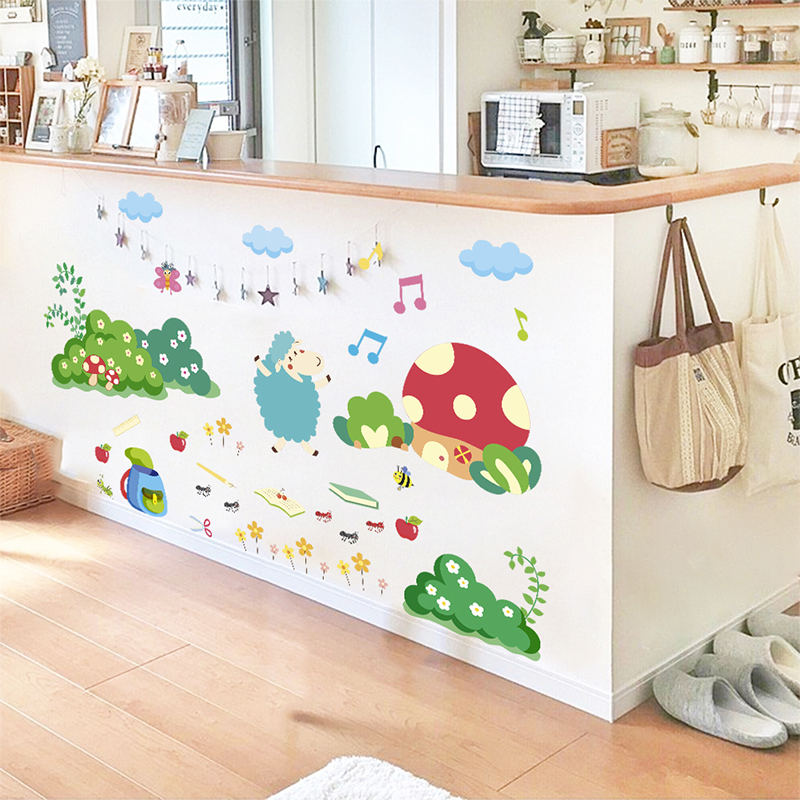 Cute Sheep Ant Bee Wall Stickers For Living Dinner Room ...