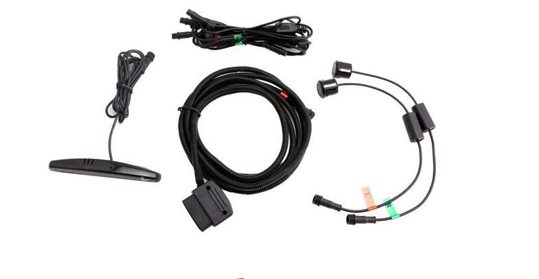 Capteur de stationnement numérique de qualité supérieure avec connecteur OBD 2 canbus affichage de LED 2 capteurs système de capteur avant d'assistance au stationnement