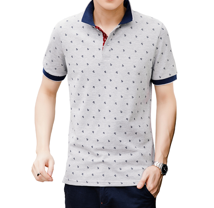 Mountainskin Men's Tops Summer 100% Cotton Printed Shirts Brands Short Sleeve Camisas Stand Collar Male Shirt 5XL EDA377 6