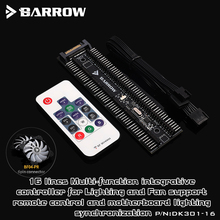 Barrow 16 way Remote Controller use for 6PIN Fan Header / 5V RGB Light Support Motherboard Aurora Synchronize