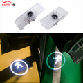 2 x LED Car Door Courtesy Light Laser Projector Logo Shadow For Peugeot 307 508 206 207 406 408 306 607 806 807 1007