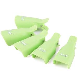 Image 5 - OYAKOM 5 adet Oje Çıkarıcı Dayanıklı Plastik Nail Art Kapalı Islatın Kap Klip UV Jel Cila Sökücü Wrap Aracı nail Art İpuçları